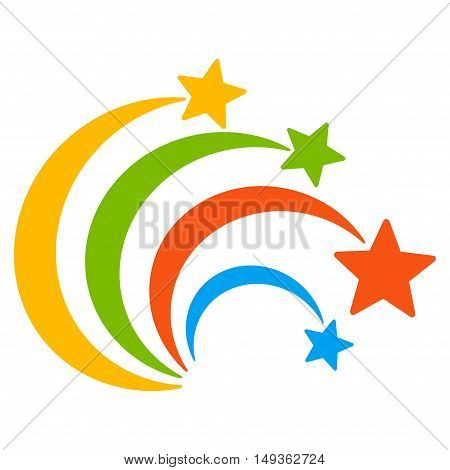 Festival Fireworks icon. Vector style is flat iconic symbol on a white background.
