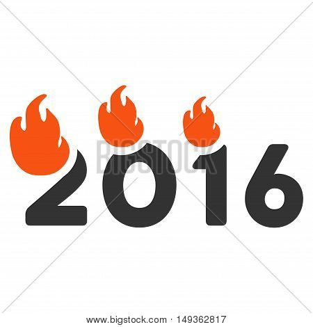 Fired 2016 Year icon. Vector style is flat iconic symbol on a white background.