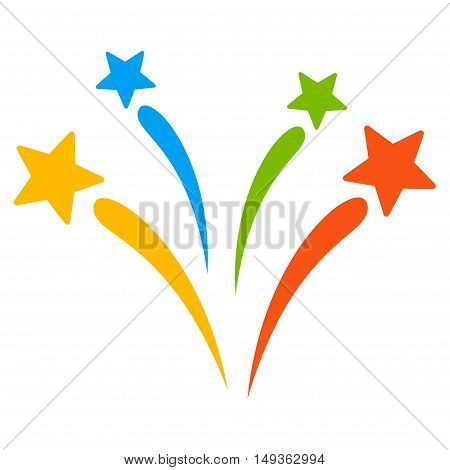 Fireworks icon. Vector style is flat iconic symbol on a white background.