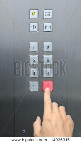 piso de prensa 2 de empresario en ascensor