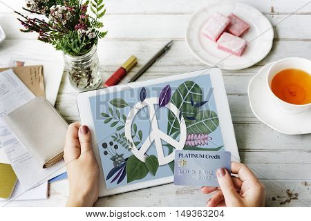 Peace Calm Freedom Harmony Solitude Graphic Concept