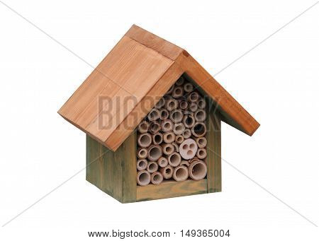 A Wooden House Shelter for Insects and Bugs.