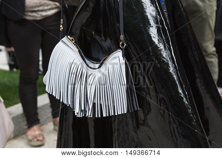Detail Of Bag At Milan Fashion Week