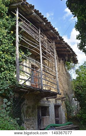 A derelict building in the small Italian village of Merso di Sopra Friuli Venezia Giulia.