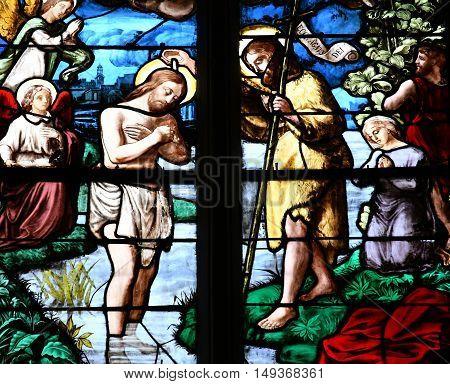Triel sur Seine France - june 12 2016 : the picturesque Saint Martin church