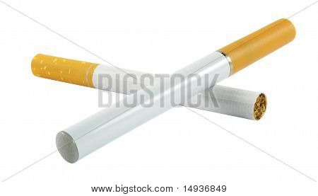 Electronic And Regular Cigarette
