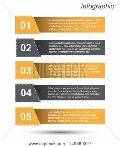 Modern Design Template / can be used for info-graphics / numbered banners / horizontal cutout lines / graphic or website layout vector
