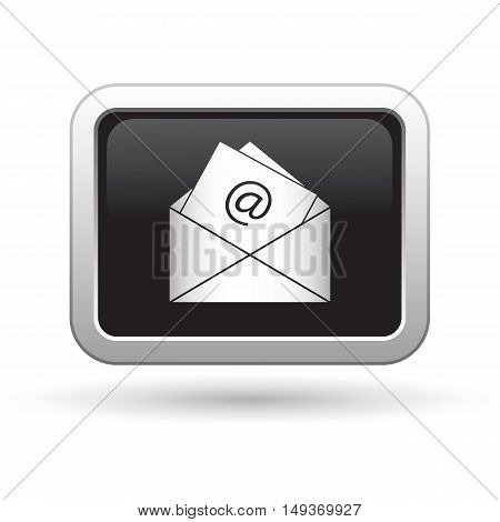E mail icon on the button. Vector illustration
