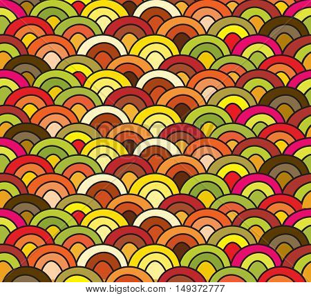 abstract multicolor waves seamless pattern design element