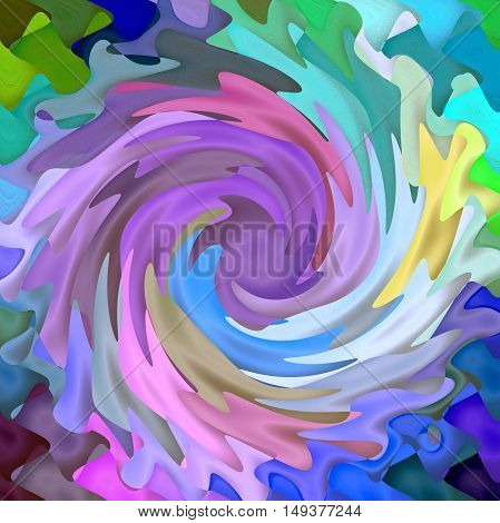 Abstract coloring background of the abstract background with visual lighting,mosaic,spherize,wave and twirl effects.Good for your project design