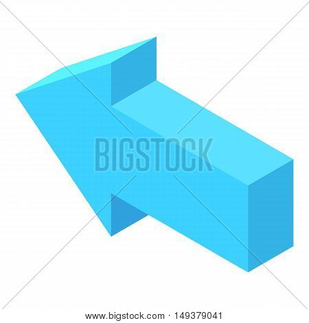 Straight blue arrow icon in cartoon style isolated on white background. Click and choice symbol vector illustration