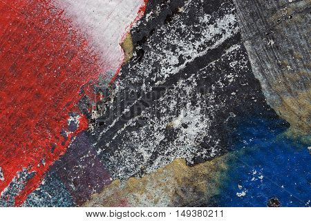 Colorful Torn Old Posters  As Abstract Colorful Textured Background 6