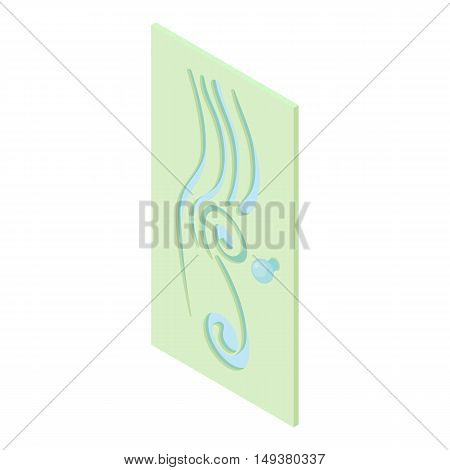 Interior door icon in cartoon style isolated on white background. Protection of home symbol vector illustration