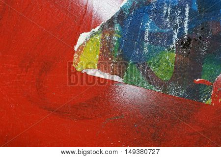 Colorful Torn Old Posters  As Abstract Colorful Textured Background 8