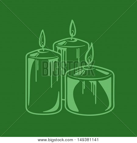 Aroma candle for spa aromatherapy Vector image