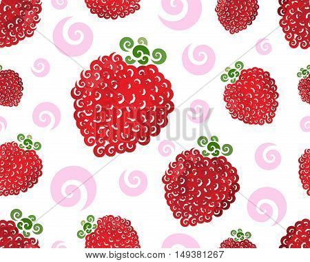 Raspberry swirl seamless, vector illustration for Your design, eps10