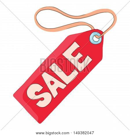 Tag sale icon in cartoon style isolated on white background. Purchase symbol vector illustration