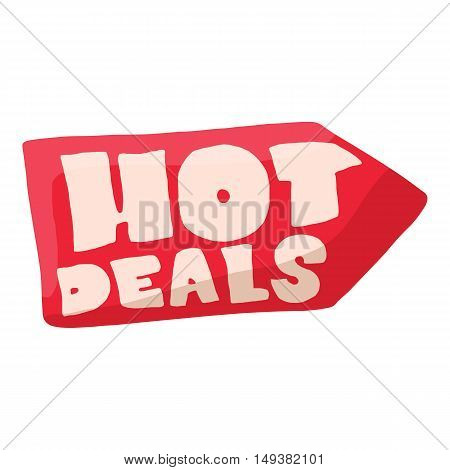 Hot deals icon in cartoon style isolated on white background. Purchase symbol vector illustration