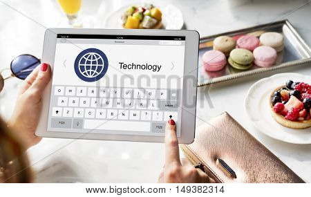 Keypad Global Communication Internet Concept