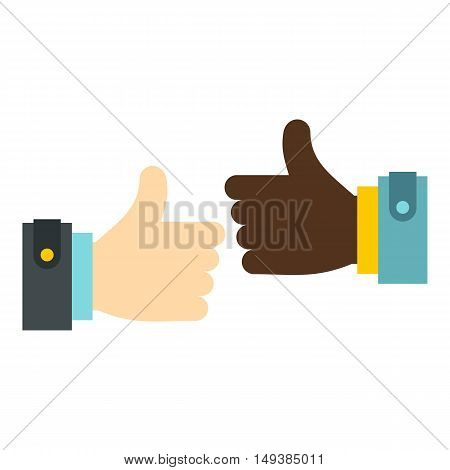 International gesture approval icon in flat style isolated on white background. Gestural symbol vector illustration