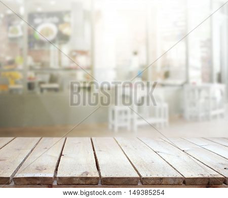Table Top And Blur Interior Of Background