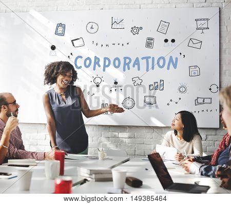 Marketing Business Corporation Progress Concept