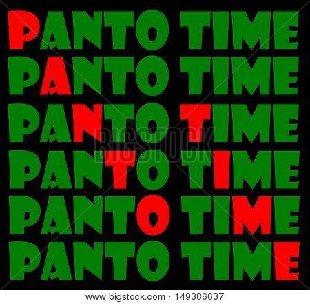 Abstract creative Christmas panto time greeting card scene