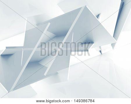 3 D Background, Chaotic Polygonal Blocks Pattern