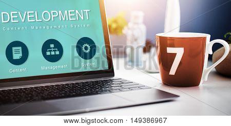Development Website Data Network Concept