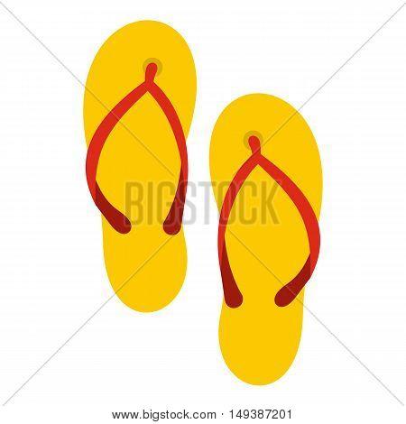 Slates icon in flat style isolated on white background. Summer shoes symbol vector illustration