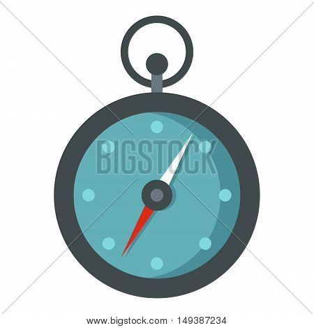 Compass icon in flat style isolated on white background. Search directions symbol vector illustration