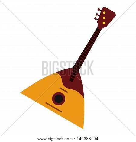 Guitar triangle icon in flat style isolated on white background. Musical instrument symbol vector illustration