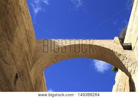Arch In Old City Valletta