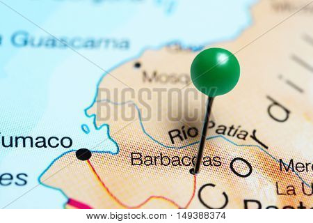 Barbacoas pinned on a map of Colombia