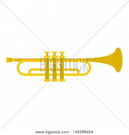 Music tube icon in flat style isolated on white background. Musical instrument symbol vector illustration