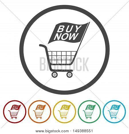 Web elements for ecommerce, Shopping cart icon