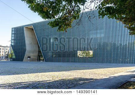 WARSAW, POLAND - SEPTEMBER 27: Museum of the History of Polish Jews in Warsaw, Poland on September 27, 2016