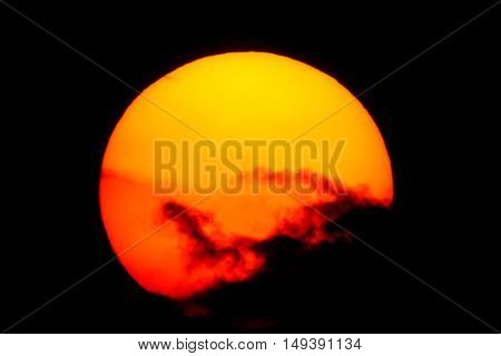 Sun setting in central Mexico, exposed only for the sun