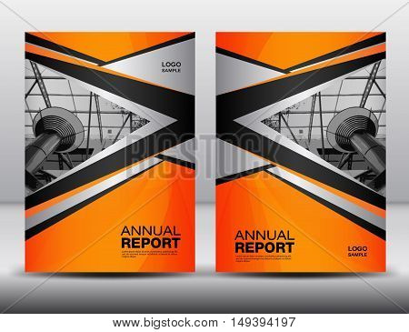 Orange Cover template, annual report ,business brochure, flyer, magazine cover, book cover, cover design vector