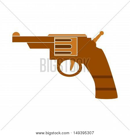 Revolver symbol icon on white background. Vector illustration.
