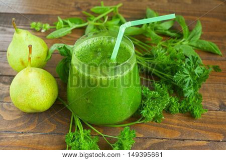 Green Smoothie In Glass