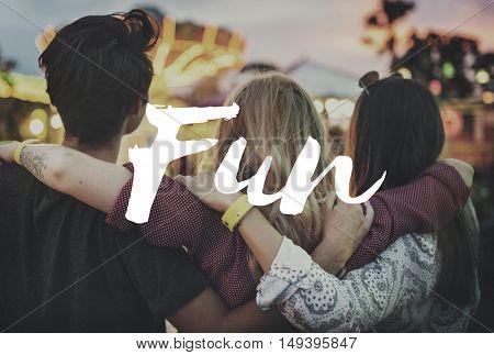 Fun Happy Hobbies Joyful Pleasure Activity Enjoy Concept