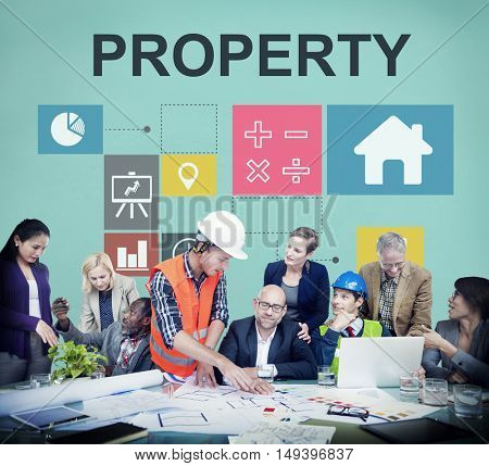 Property Investment House Chart Concept