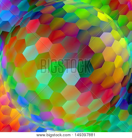 Abstract coloring background of the abstract background with visual lighting,mosaic and spherize effects.Good for your project design