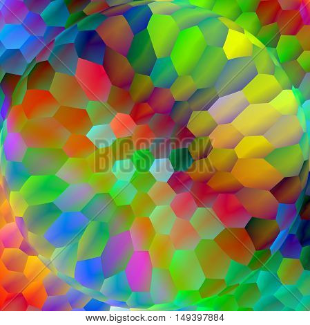 Abstract coloring background of the abstract background with visual lighting, pinch,mosaic and spherizeeffects.Good for your project design