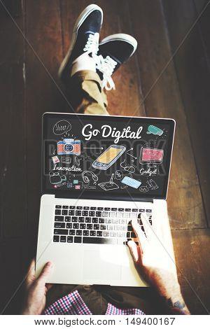 Go Digital Electronic Information Technology Internet Concept