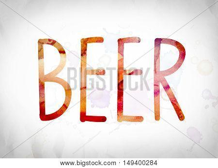 Beer Concept Watercolor Word Art