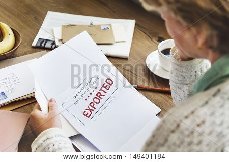Pending Imported Purchase Business Concept