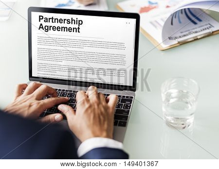 Partnership Agreement Business Contract Concept