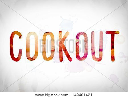 Cookout Concept Watercolor Word Art